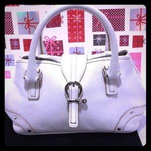 Vintage BURBERRY OFF WHITE Leather Handbag